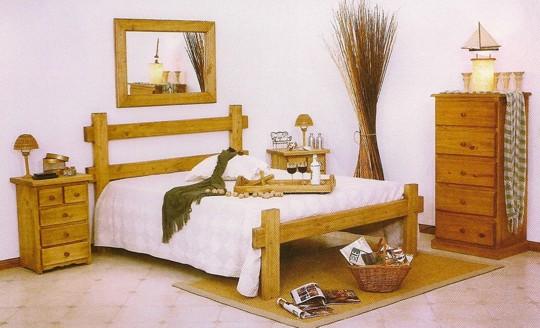 Excelente Dormitorio De Pino Macizo Juegos De Muebles Colección ...